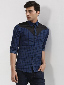RUSE Check Shirt With Contrast Yoke available at Koovs for Rs.659