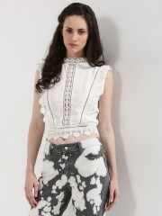 SBUYS  Lace Detail Sleeveless Top