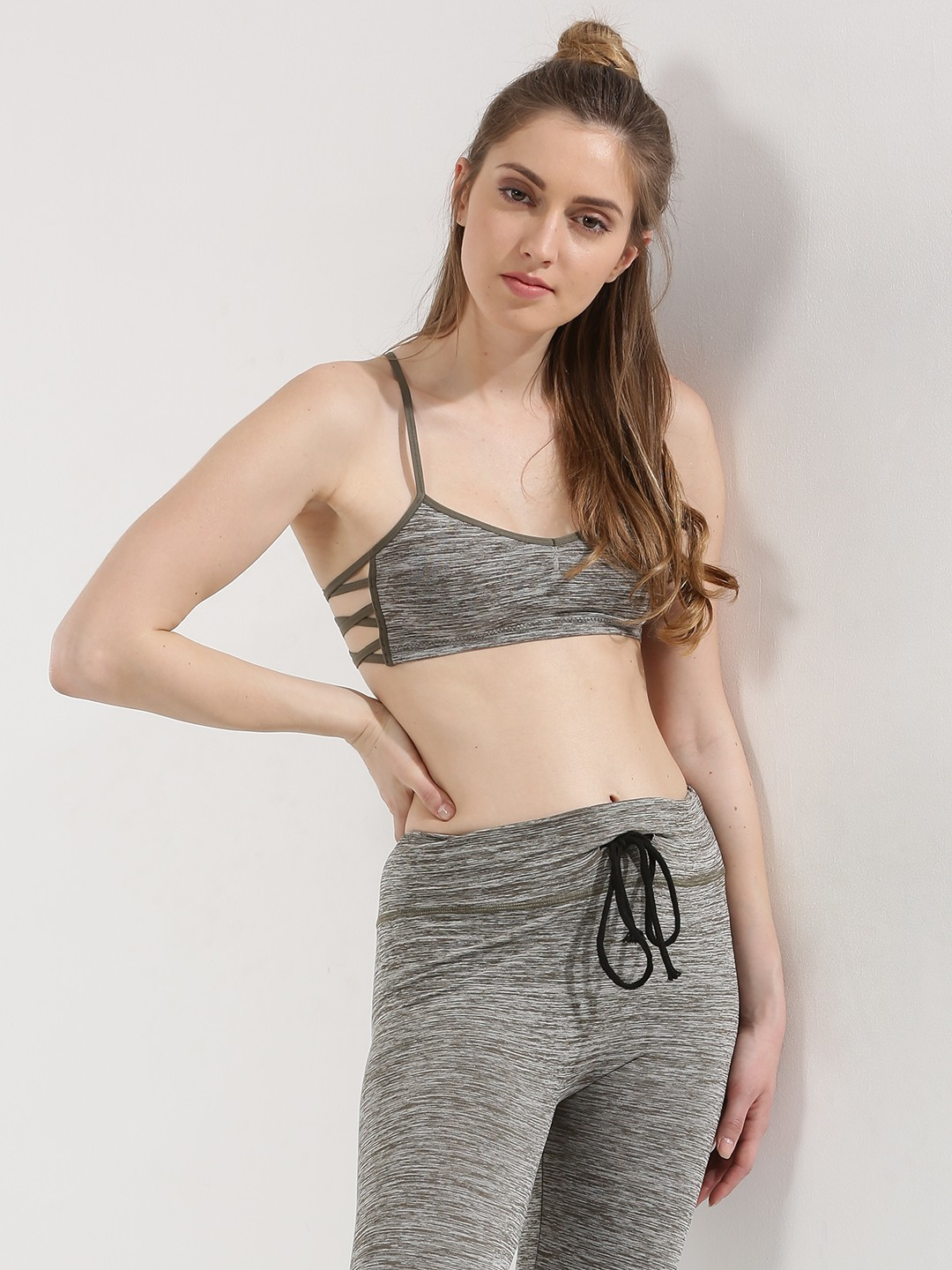 ... With Side Detail For Women - Women's Grey Brassiere Online in India