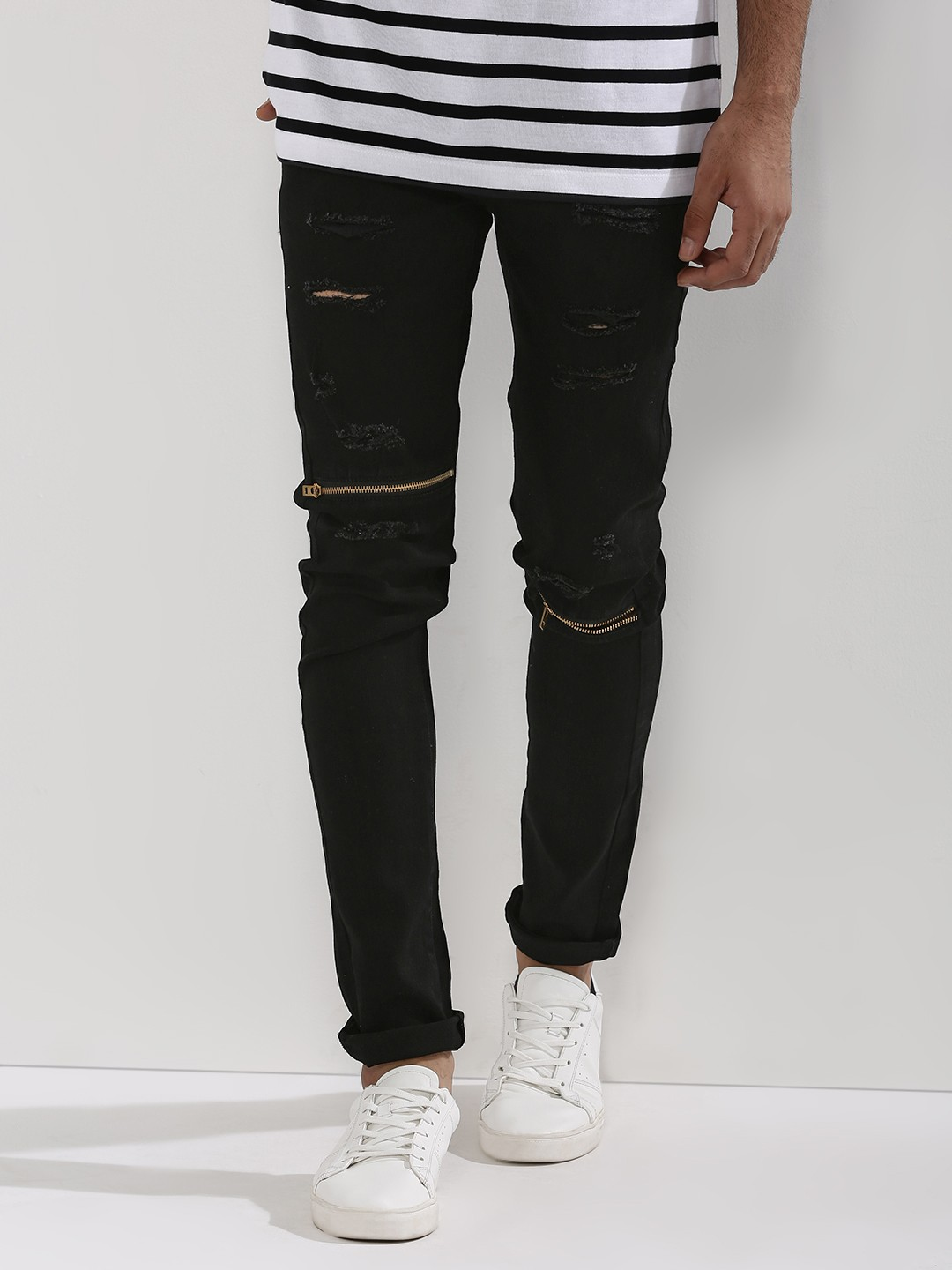 Kultprit Slim Fit Jeans With Rips - Ripped Jeans : Buy Ripped Jeans For Men & Women Online In India