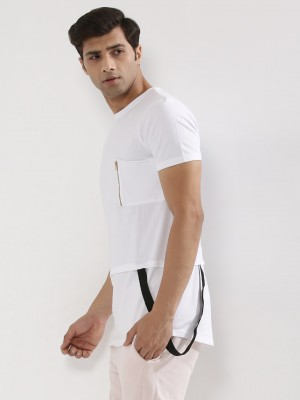 KINDRED  Extended Hem T-Shirt With Suspenders