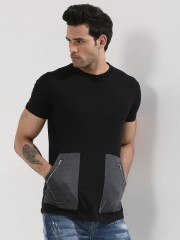 SPRING BREAK  T-Shirt With Enlarged Zip Pockets