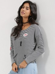 ONLY  Embroidered Patch Top