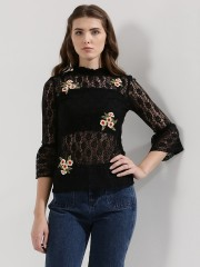 RIDRESS  Embroidered Lace Top