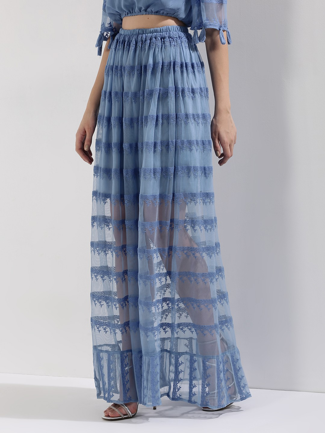 buy rena sheer lace maxi skirt for s