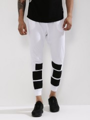 SPRING BREAK  Cuffed Knitted Joggers With Contrast Panels