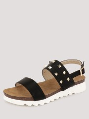 MY FOOT COUTURE  Two Strap Studded Sandals