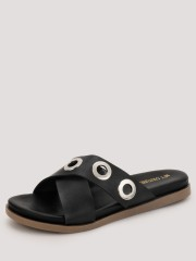 MY FOOT COUTURE  Eyelet Detail Slides - 94053_2_2