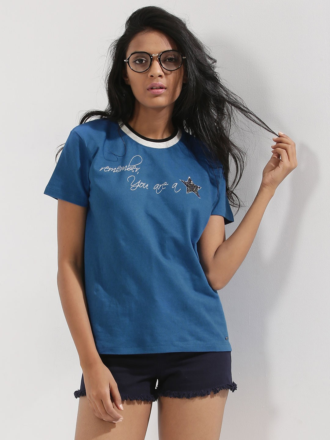 Buy being human embroidered pique t shirt for women for Being human t shirts buy online india
