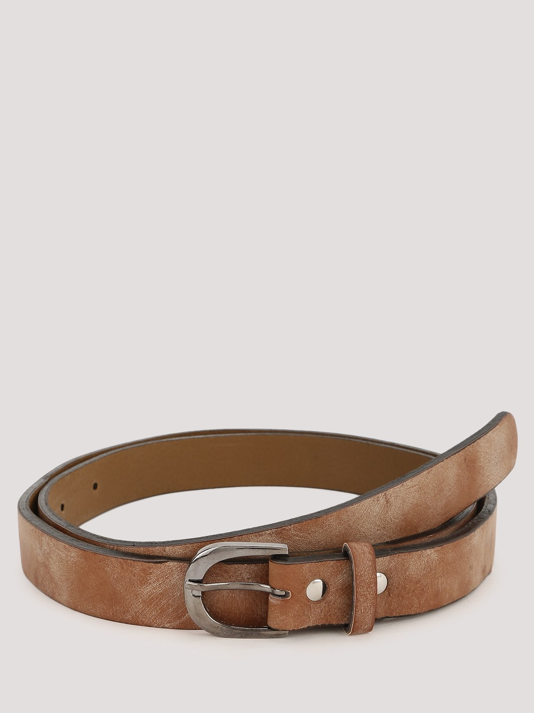 buy blueberry washed synthetic leather belt for