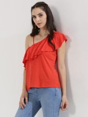 NEW LOOK  One Shoulder Ruffle Cami Top