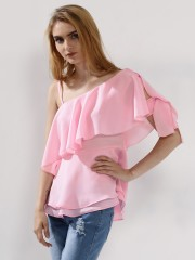 RIDRESS  One Shoulder Layered Top