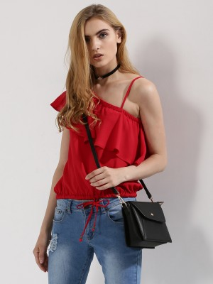 COVER STORY  Ruffle One Shoulder Crop Top