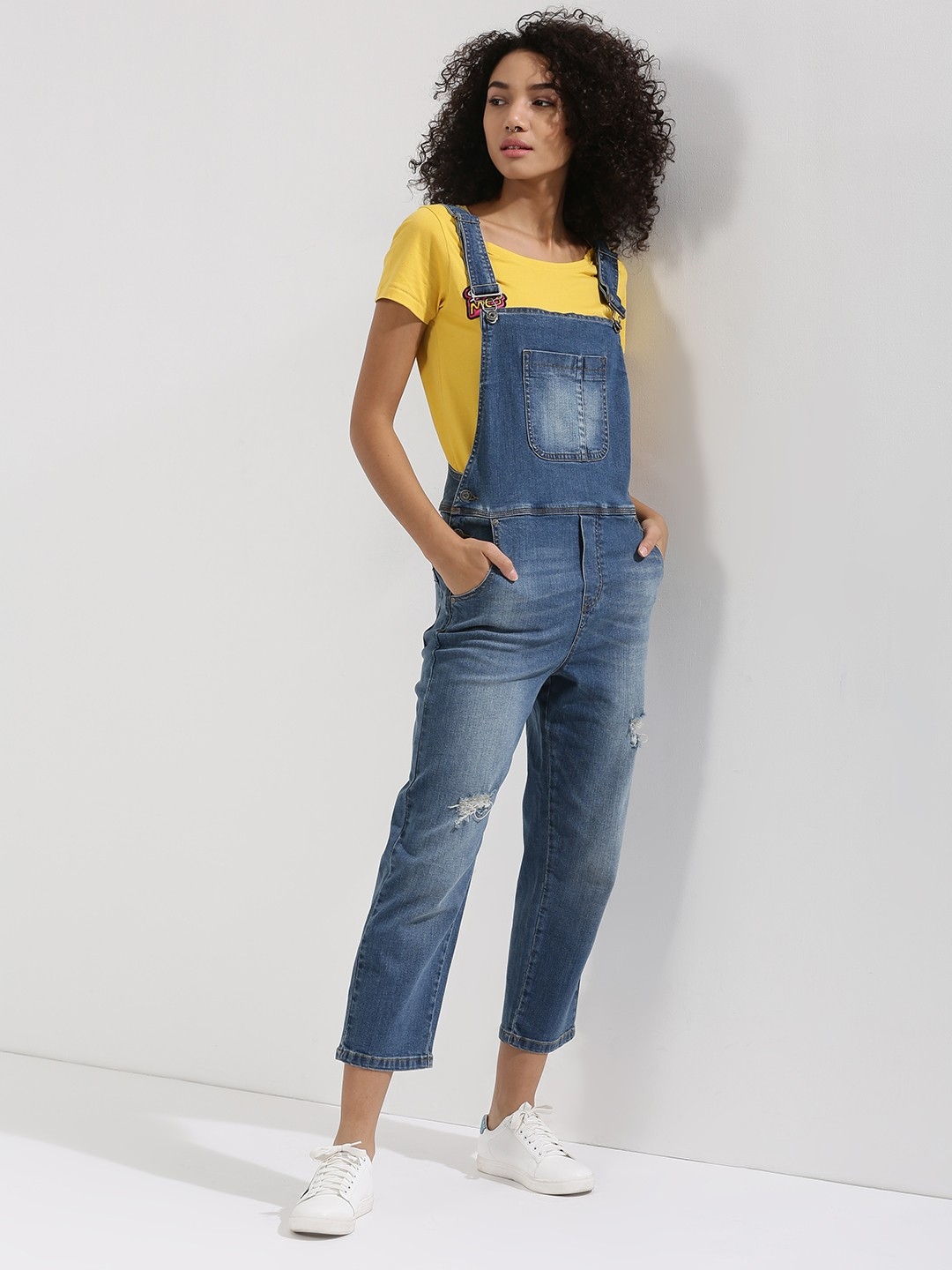 Buy ONLY Denim Dungaree For Women - Women's Blue Dungarees Online ...