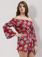 FOREVER AND EVER  Floral Bardot Playsuit