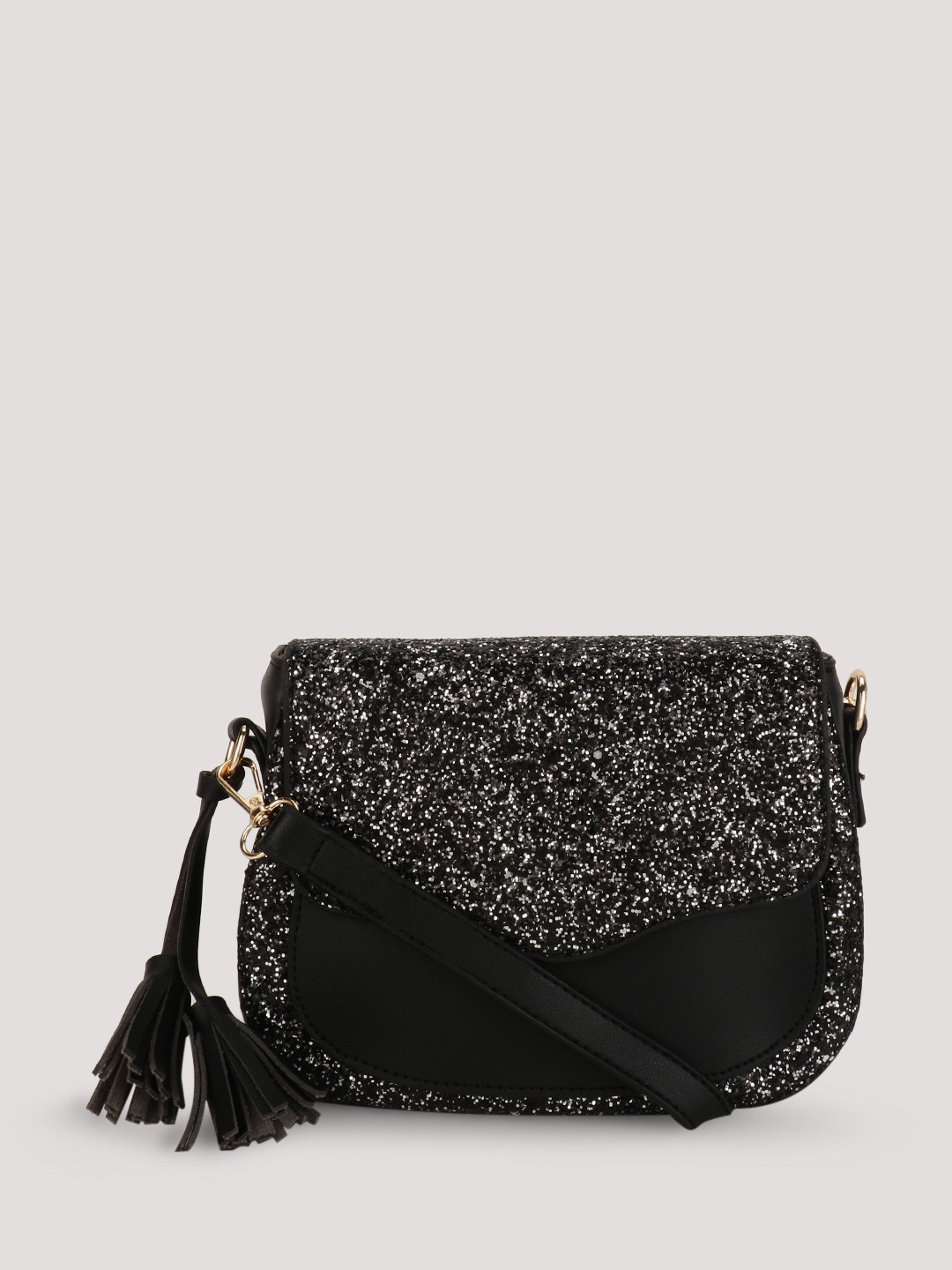 Buy FUR JADEN Glitter Sling Bag For Women - Women's Black Sling ...