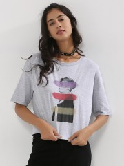 ONLY  Limited Edition Justin Bieber Printed Boxy T-Shirt