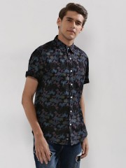 BLUE SAINT  Printed Shirt With Contrast Buttons