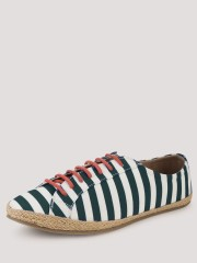 HECKLER  Striped Espadrilles With Contrast Laces