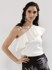 COVER STORY  One Shoulder Ruffle Top - 96687_2_9