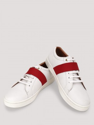 GRIFFIN  Casual Sneakers With Contrast Strapped Detailing
