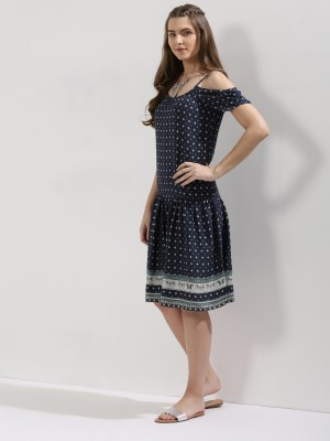 2695eeed98a391 BLUE SEQUIN Cold Shoulder Dress Best Deals With Price Comparison ...