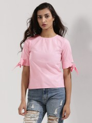 SBUYS  Top With Bow Tie Sleeves