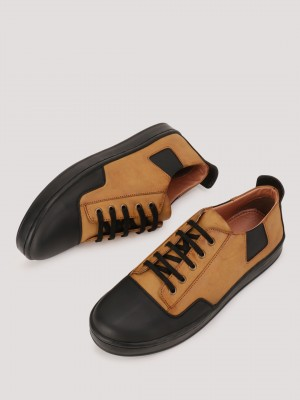 GRIFFIN  Sneakers With Contrast Vamp Detailing - 98623