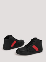 MARCELLO & FERRI  Hi Top Sneakers With Contrast Panel Detailing