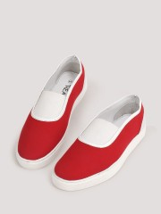TREAD  Canvas Slip Ons With Contrast Lining