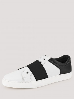 TREAD  Slip Ons With Contrast Strap Detailing