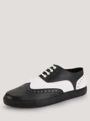 TREAD  Brogue Sneakers With Contrast Panel