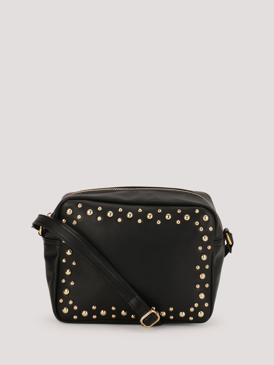 Buy PARIS BELLE Studded Sling Bag For Women - Women's Black Sling ...
