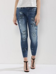 ONLY  Skinny Jeans With Text Print Detailing