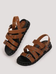 MY FOOT COUTURE  Eyelet Detail Chunky Sole Sandals
