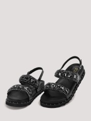 MY FOOT COUTURE  Embellished Chunky Sole Sandals