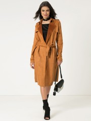 HARRY SEJAL X KOOVS  Tie Front Trench Coat With Back Yoke Overlay