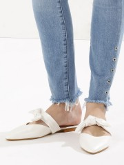 SOLE STORY  Pointed Mules With Knot Detail