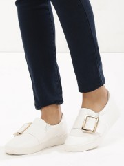MY FOOT COUTURE  Buckle Detail Slip On Trainers
